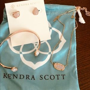Kendra Scott Rose Gold & Iridecent Drusy